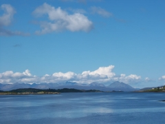 The Cuillins from Lochcarron