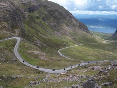 Rush hour on the Bealach na Ba